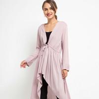 Paz Outer Rayon Cardigan Kimono Baju Tidur - Pink