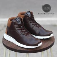 Sepatu Sneakers Safety Pria Ujung Besi Lavio Vander Original Terbaru - Hitam, 39