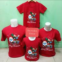 Baju Kaos Couple Family Natal/Santa Claus/Merry Christmas 2Anak ~03