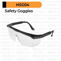Clear Safety Glass INGCO HSG04 Goggle Google Kacamata Kaca Mata Proyek