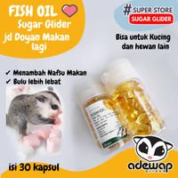 Natural fish oil minyak ikan untuk sugar glider kucing dan hewan lain