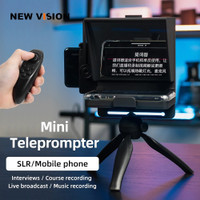 Mini Teleprompter Portable inscriber Autocue Interview With Remote