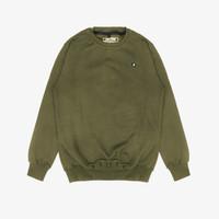 Geoff Max Official - Karami Green Army   Sweater Pria   Crewneck