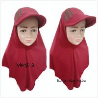 Jilbab Hijab Instan Spandek Topi Anak JILTOP PITA