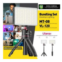 Ulanzi Vijim VL-120 + Tripod Mini MT80 LED Video Light Vlog Studio Set