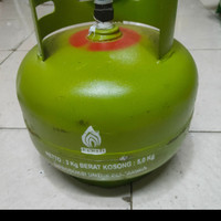 Tabung Gas Elpiji 3 kg + isi tabung melon