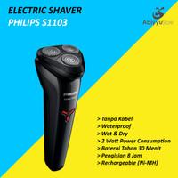 Electric Travel Shaver Philips S1103 Alat Cukur Kumis Jenggot Elektrik
