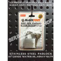 Blackfoot Gembok Putih 40 mm Stainless Steel Anti Karat Anti Potong