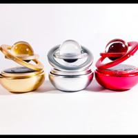 [Terlaris]-Rotating Solar Double Ring Parfum,Pengharum Ruangan mobil - Silver