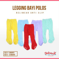 [PIKAPIKA] Legging Bayi Polos Cotton Rich Tights Tutup Kaki | Reliwear