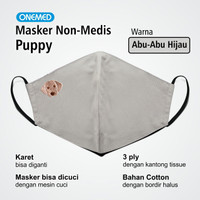 Masker Kain Puppy Onemed 3Ply Size L
