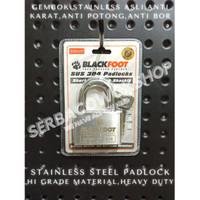 Blackfoot Gembok Putih 60 mm Stainless Steel Anti Karat Anti Potong