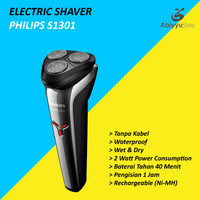 Electric Travel Shaver Philips S1301 Alat Cukur Kumis Jenggot Elektrik