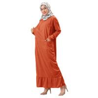 JOANA Gamis Jumbo Ruffle Busui Friendly - Dress Muslim AllSize fit up