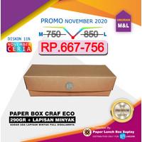 KERTAS PAPER CRAFT TAKE AWAY LUNCH BOX COKLAT POLOS 275 UKURAN M