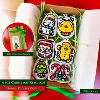DWS Souvenir Natal Christmas Gift Hampers Gantungan Kunci 6 PCS