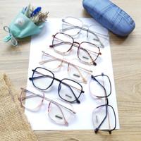 Kacamata Baca Plus/Minus Wanita Kekinian Lensa Antiradiasi