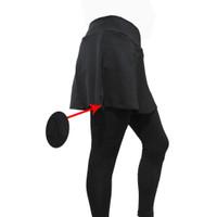 Celana Sepeda Balap Panjang Rok Wanita - Celana Sepeda Ketat Padding - M, Hitam