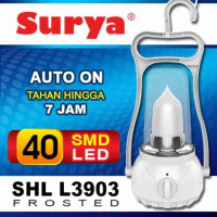 Lampu Emergency / Lampu Darurat Lentera 40SMD Dimmer SHL-L3903 SURYA
