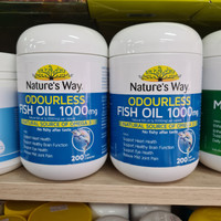 Natures Way Odourless Fish Oil 1000mg isi 200 softgels