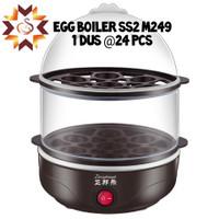 Egg boiler 2 susun-alat kukus telur dan kue elektrik -steamer kue
