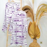 One Set Tunik Pajamas Billard Setelan Tunik Celana Wanita Tunik Muslim