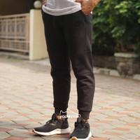 ORIGINAL Nike Jogger Pants Celana Training Pria Wanita Olahraga Hitam - Hitam, S