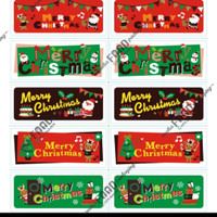 Sticker label tempelan kue natal mix motif uk. 2x5cm (10pc)