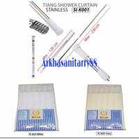 Tiang hordeng set shower curtain (Tirai kamar mandi)
