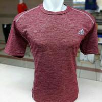 Baju Running/Training/Gym/Sport Grade Ori merah marun - M