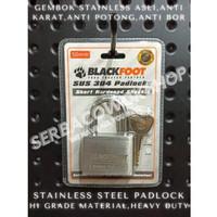 Blackfoot Gembok Putih 50 mm Stainless Steel Anti Karat Anti Potong