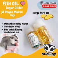 Fish Oil / Minyak Ikan Nutrisi & Vitamin Hewan Sugar Glider Kucing