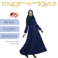 Gamis Home Dress Muslim Busui Caliana - Dream Hijab - Crepe - Black - M
