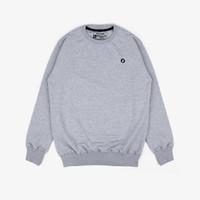 Geoff Max Official - karami Grey   Sweater Pria   Crewneck