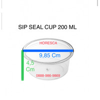 Cup Puding / Seal Cup SIP 200 ML + Tutup Dome Tanpa Lubang @50 Pcs