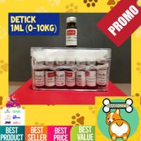 Obat Kutu DETICK Kucing Anjing uk. 0 - 10kg TETES AMPUH ORIGINAL @ 1ml