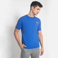 Slim Fit - Kaos Fashion - Biru - Polos - JTS.322.M1836F.01.C