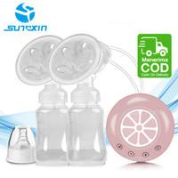 Pompa Asi Elektrik Ganda / Double Electric Breast Pump / Fungsi Pijat - Merah Muda