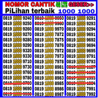 nomor cantik XL 4G LTE SERI PILIHAN 1000-1000 TERBAIK
