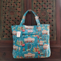 Cath Kidston London Calling Large Open Carry All Bag Blue