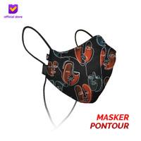 Masker Kain Non Medis Footstep Footwear – Earloop Mask Stylo Pontour