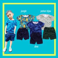 Baju Setelan kaos pendek Anak Laki Celana Unfinished 6 bulan - 4 tahun