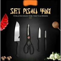Pisau Set 4 in 1 Aksesoris Dapur masak Knife Kitchen Gunting Peeler on