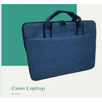 softcase laptop / tas laptop blue denim