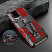 Casing Vivo V20 V 20 Hard Case Kickstand Amor Shockproof - Hitam