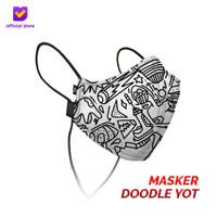 Masker Kain Non Medis Footstep Footwear – Earloop Mask Stylo Doodle