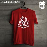 Kaos Natal Tanduk Rusa / Merry Christmas / Unisex Tshirt / Pria Wanita