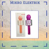 Microphone Original Wster Bluetooth Wireless Karaoke Ws-858 Pink