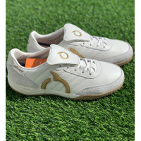 Sepatu futsal Ortuseight original JOGOSALA RABONA white gold 2020