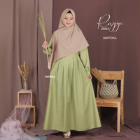 "Rayyi Dress ""Gamis Syar'i"" - Matcha, AS"